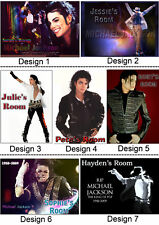 Personalised Michael Jackson - Door / Wall Sign - With Name or Msg - Gift Idea