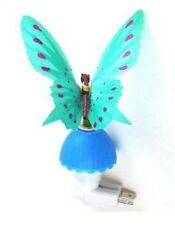 Fiber Optic Butterfly Night Light LED Color Changing Lamp - Blue