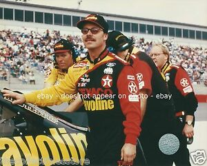 ERNIE IRVAN LARRY MCREYNOLDS TEXACO HAVOLINE NASCAR WINSTON CUP 8 X 10 PHOTO