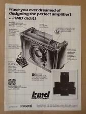 vintage magazine advert 1986 KMD GUITAR AMPLIFIER