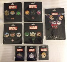 In Hand SDCC 2017 Marvel Exclusive Avengers Superheroes Emoji 20 Pin Lanyard Set