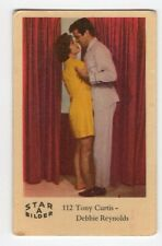 1960s Swedish Film Star Card Bilder A #112 US Actors Tony Curtis Debbie Reynolds