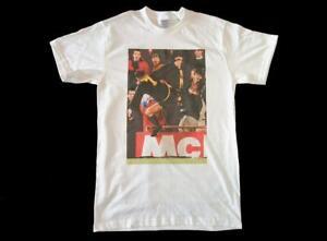 Eric Cantona Kung-Fu Kick Manchester United White T-Shirt size S-3XL man utd
