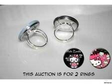 Hello Kitty Zombie Horde set of 2 adjustable rings