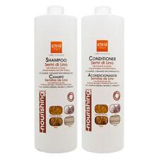 Alter Ego Semi De Lino Shampoo & Conditioner with Garlic 33.8oz/Free Nail File.