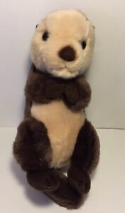 Aurora World Realistic Miyoni Sea Otter Plush Stuffed Animal Toy Play