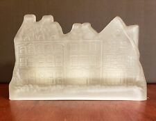Frosted Glass House Village Tea Light Candleholder & Candles House of Lloyd