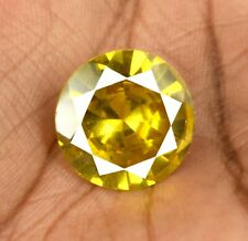Burma Yellow Spinel Gemstone Round 42.35 Carat Natural Untreated Certified X9692