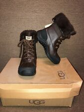 UGG Adirondack II Obsidian Brown Waterproof Leather Snow Boots Size US 6 Womens
