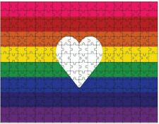 Love Wins Marriage Equality Lgbt Pride Heart Jigsaw Puzzle (252 piece) New