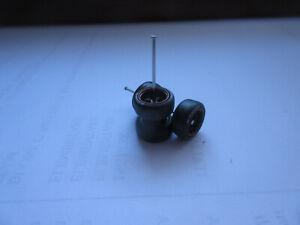 Pneumatico 1/64 in gomma a 4 razze nero per cerchi Hot Wheels