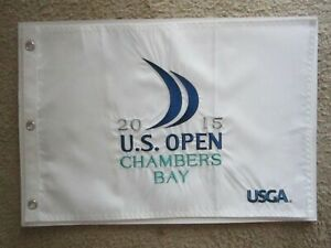 2015 US OPEN GOLF FLAG CHAMBERS BAY 15 JORDAN SPIETH WINS PGA U.S. EMBROIDERED