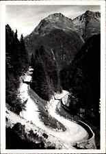 SCHWEIZ ~1950/60 Alpen Pass Strasse Rusatsch-Kehren Kurven ob Susch Flüelapass