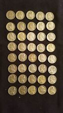 1942-1945 Solid Date Roll Silver War Nickels 40 Coins Per Roll 35/% Silver