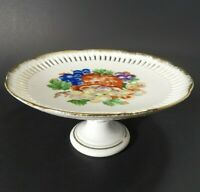 Reticulated Pedestal / Wall Plate ~ Removable Stand ~ Cake Fruit ~ Grapes