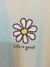 "LIFE IS GOOD WOMENS LIGHT Green 100% cotton t-shirt sz XL ""Daisy Flower"""