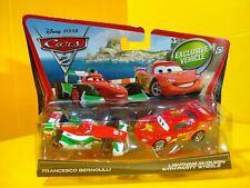 Disney Pixar Cars 2 LIGHTNING McQUEEN With Party Wheels & FRANCESCO BERNOULLI