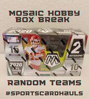 2020 PANINI MOSAIC FOOTBALL ~ ONE (1) HOBBY BOX BREAK ~ RANDOM TEAMS LIVE BREAK