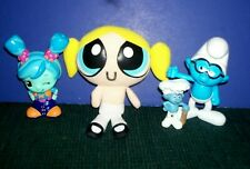 2 Smurf Toy-Out Of This World Blip Toy FLIX Figure Sound Lights-Power Puff Doll