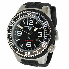 Stainless Steel Case Silicone/Rubber Strap Analog Watches