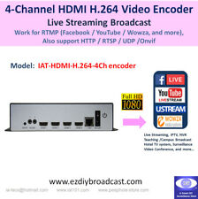 Low-cost 4 Channel HDMI 1080P H.264 encoder RTMP HTTP  live stream up to 16 IP