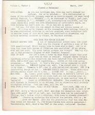SNIX VOL.1 #1-MARCH 1947-RARE WALTER COSLET 16 PG.SCI/FI FANTASY FANZINE-VF