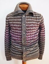 €820 NWT Authentic MISSONI 100% WOOL Knitted Cardigan Sweater Bomber EU-48 M