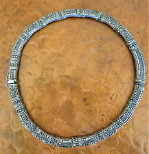 Judith Jack Heavy Vintage Choker Necklace Sterling 925 Marcasite STUNNING!!