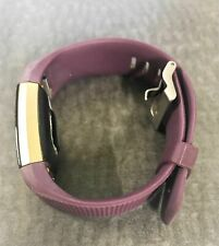 Fitbit FB407S Charge 2 Heart Rate + Fitness Wristband gold color case Plum w005