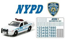 NYPD Ford Crown POLICE Interceptor 2011 + Decals /Aufkleber *Greenlight 1:64 OVP