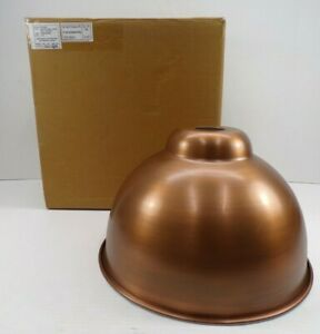 """Pottery Barn High Gloss Metal Pendant Bell Hood Only Large 13""""D Copper #9965"""