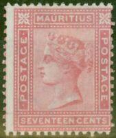 Mauritius 1880 17c Rose SG96 Fine Mtd Mint