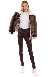 RRP €1505 BALENCIAGA Leather Trousers Size 36 / XS Zipped Cuffs Made in France