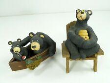 Ohio Wholesale Black Bear Resin Figurine Fishing Honey Pot Wild Animal Novelty