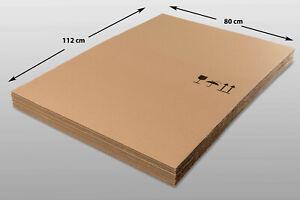 12x Kartonplatte 800x1120 mm Wellpappe Zuschnitt f Palette mit Motiv
