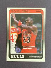 1988-89 Fleer Basketball Card #17 Michael Jordan