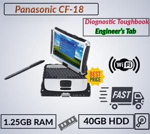 Tablet PANASONIC TOUGHBOOK CF-18 FULL RUGGED 1.25GB 40GB WIN 7 BLUETOOH CHARGER