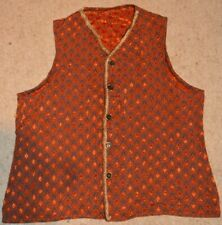 Theatrical Costume Men's exclusive Orange/Black Waistcoat special buttons