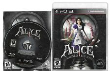 ALICE MADNESS RETURNS PlayStation 3 PS3 disc and case