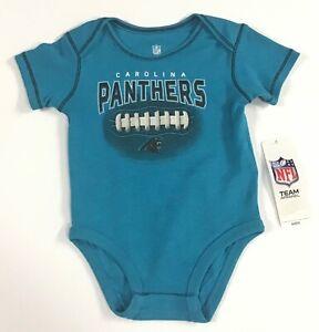 Carolina Panthers NFL / Short Sleeve One-Piece Snap Crotch Bodysuit / Size 12M