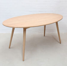 Retro Modern Design Natural Timber Wood Oval Dining Table Kiruna Replica