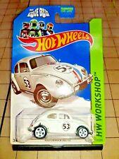 Hot Wheels 2013 HW Workshop HERBIE The Love Bug VW Beetle White 1/64