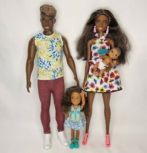 Barbie Doll Baby Chelsea African American Fashionista Baby Family Bundle