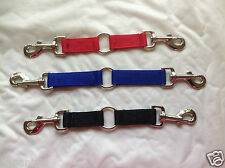 "14"" or 12"" NEWMARKET WEB 1""  COUPLER COUPLING  lead lunge rein webbing colours"