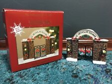 St. Nicholas Square Arched Gateway Christmas Village Collection VERY DETAILED!
