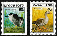 1980 Hungary European Natural Conservation Birds Series Stamps set of 2 - Used