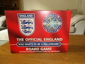 THE OFFICIAL ENGLAND BOARD GAME - WHO WANTS TO BE A MILLIONAIRE