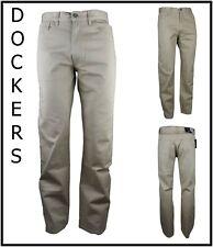 Dockers pantaloni jeans da uomo elasticizzati cotone a vita alta beige 46 w32L32