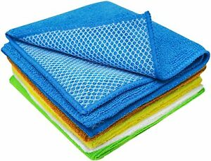 Dish Rags Cloth for Washing NEW kitchen dish wash rags Microfiber 5 Pack Towels