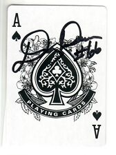 DOUG DAWSON TEXAS UNIVERSITY CLEVELAND BROWNS 1994 AUTOGRAPHED PLAYING CARD